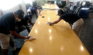 Dream Clean Team cleaning an Office